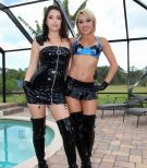 Cruel women Daisy and Marina from Club Dom tease a restrained penis in boots