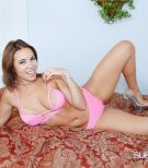 Beautiful female Kylie Rogue plays with a virginity implement in her lingerie and high-heels