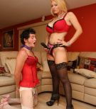 Domme Charlee Chase tops Her crossdressing Cuckold