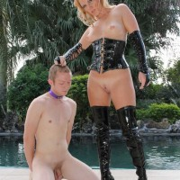 Alluring Domme Ashley Edmunds forces a Cuck