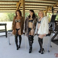 Hot chick Isobel Raven and a couple of girlfriends humiliate a male sex slave