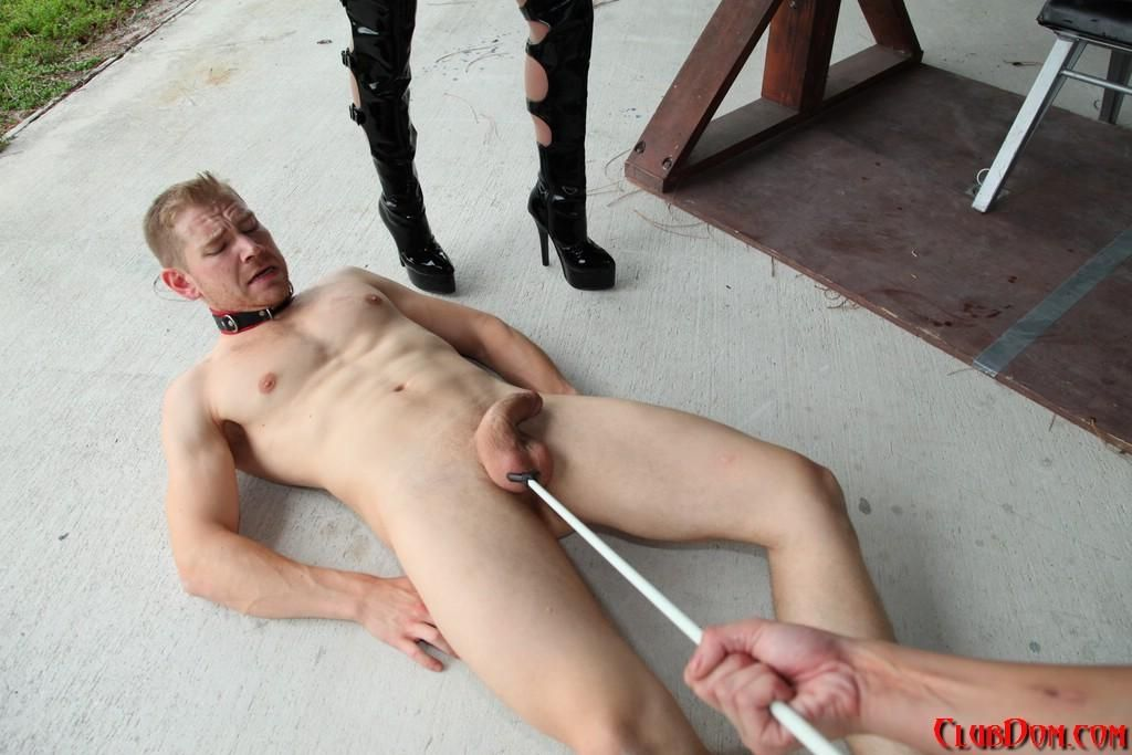Wicked women Kimmy and Alexia deliver CBT approach to a nude male in lengthy boots