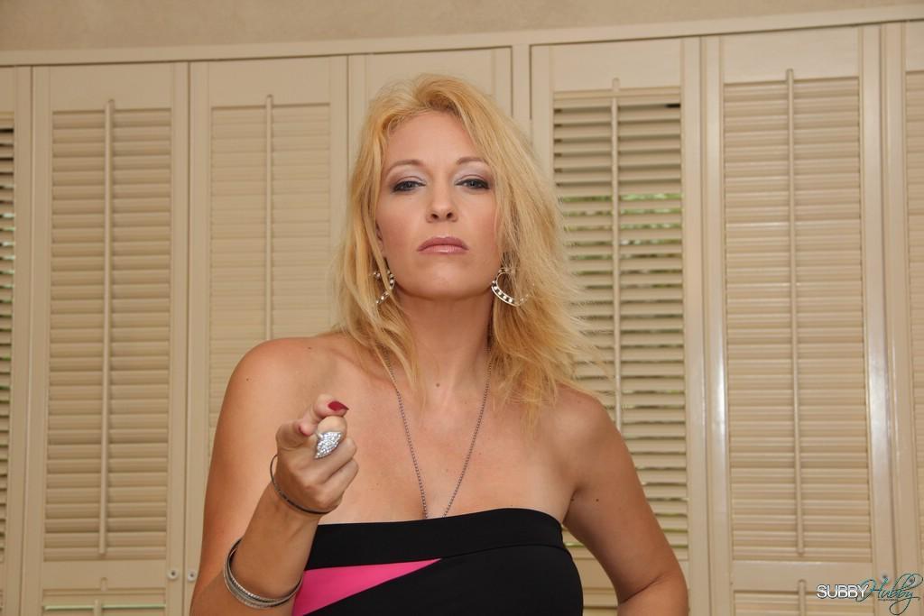 Lumbering blonde gf Charlee Haunt training crossdressing sissy maid