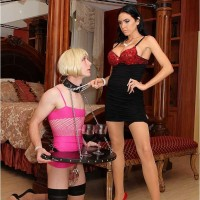 Dominatrax Emmanuelle London and Sissy Boy Maid