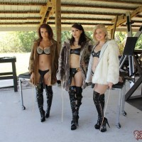 X-rated star Isobel Raven and a girlfriend abase a restrained boy