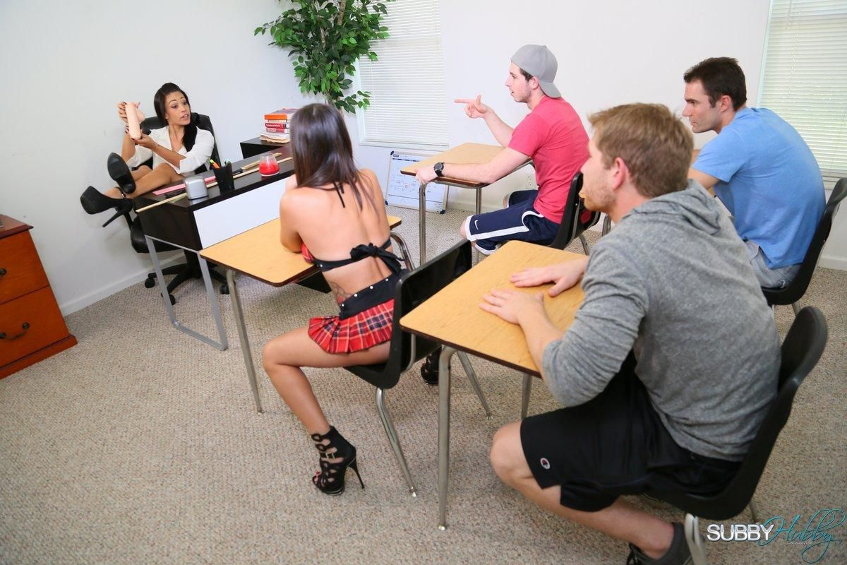 Sex ed class with hot teacher Jamie Valentine is unlike any class you've ever had